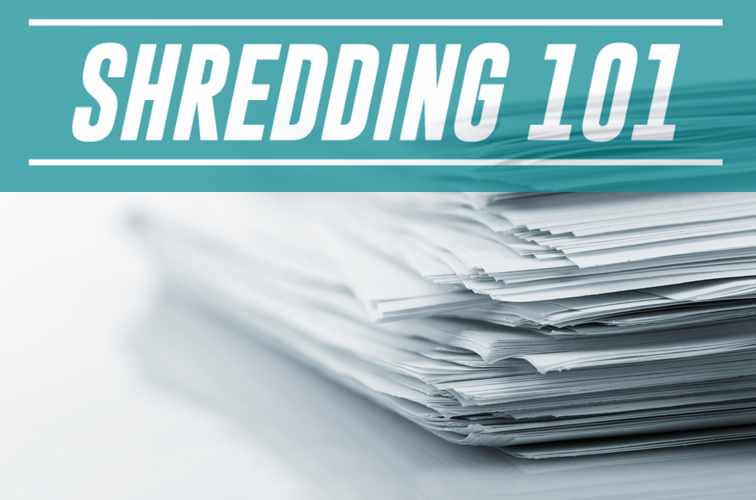 Paper to be shredded